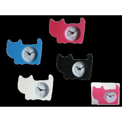 Ρολόι Γατάκι από σιλικόνη επιτραπέζιο