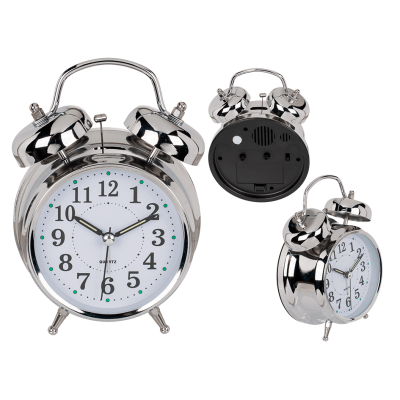 Ρολόι Ξυπνητήρι μεταλλικό επιτραπέζιο