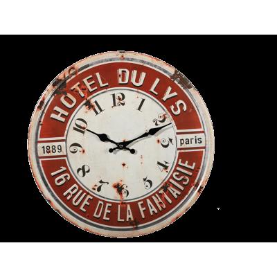 Ρολόι τοίχου Μεταλλικό Hotel Du Lys