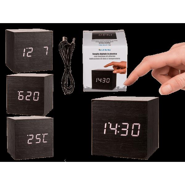 Ψηφιακό Ρολόι Ξυπνητήρι Αφής Κύβος