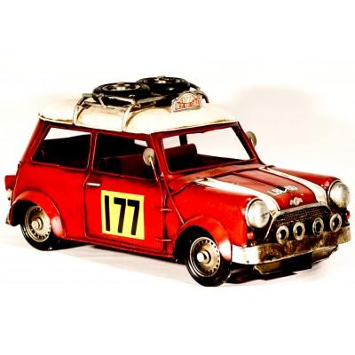 Συλλεκτικό μεταλλικό Mini Cooper αγώνων ράλλυ