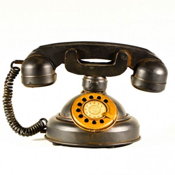 Μαύρο μεταλλικό διακοσμητικό τηλέφωνο