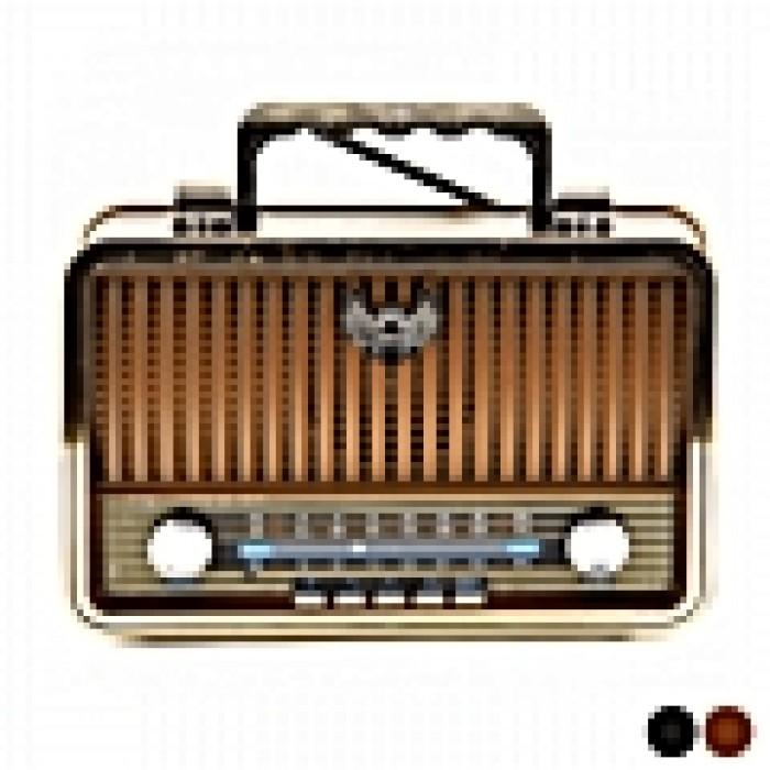 Vintage ασύρματο ραδιόφωνο με bluetooth USB Kemai MD-1909BT ΚΑΦΕ ΧΡΩΜΑ