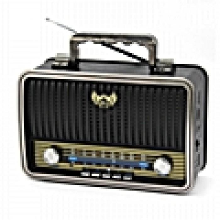 Vintage ασύρματο ραδιόφωνο με bluetooth USB Kemai MD-1909BT ΜΑΥΡΟ ΧΡΩΜΑ